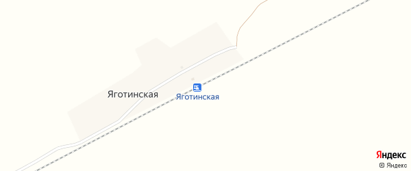 Привокзальная улица на карте Яготинской железнодорожной станции с номерами домов