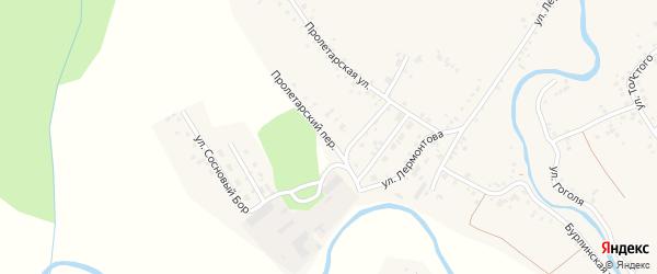 Пролетарский переулок на карте села Хабаров с номерами домов