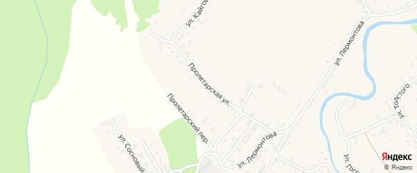 Пролетарская улица на карте села Хабаров с номерами домов