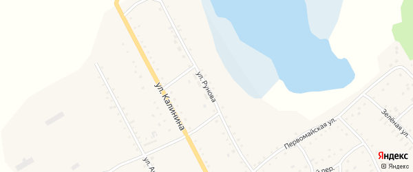 Улица Рунова на карте села Хабаров с номерами домов