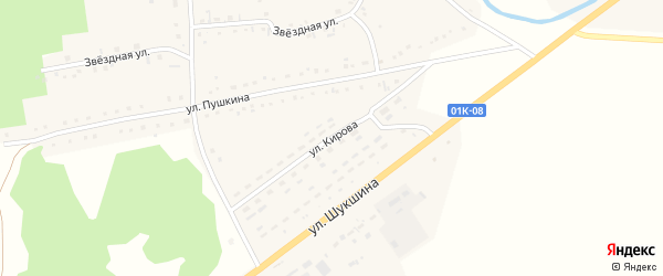 Улица Кирова на карте села Хабаров с номерами домов
