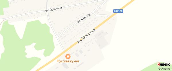 Улица Шукшина на карте села Хабаров с номерами домов