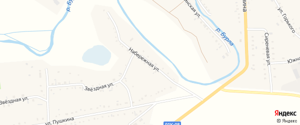 Набережная улица на карте села Хабаров с номерами домов