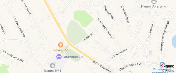 Новая улица на карте села Хабаров с номерами домов