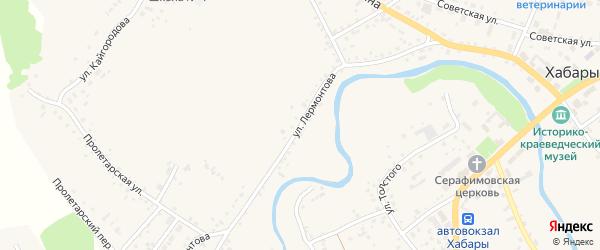 Улица Лермонтова на карте села Хабаров с номерами домов