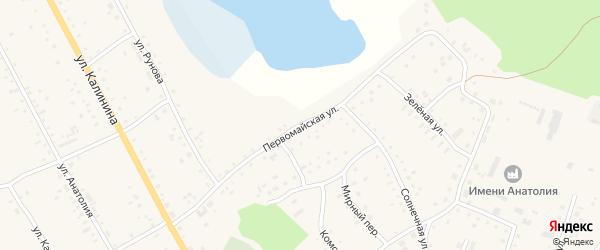 Первомайская улица на карте села Хабаров с номерами домов