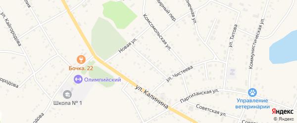 Молодежная улица на карте села Хабаров с номерами домов