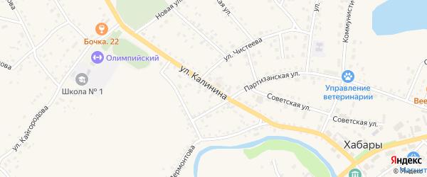 Улица Калинина на карте села Хабаров с номерами домов