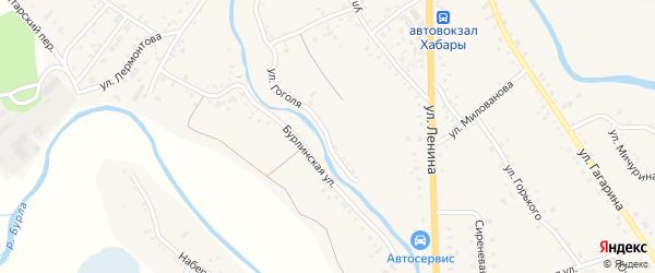 Улица Гоголя на карте села Хабаров с номерами домов