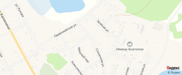 Солнечная улица на карте села Хабаров с номерами домов