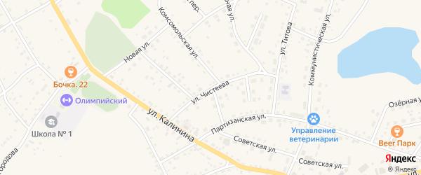 Улица Чистеева на карте села Хабаров с номерами домов
