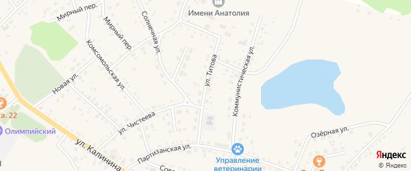 Улица Титова на карте села Хабаров с номерами домов