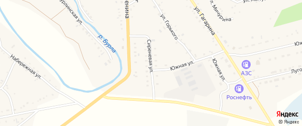 Сиреневая улица на карте села Хабаров с номерами домов