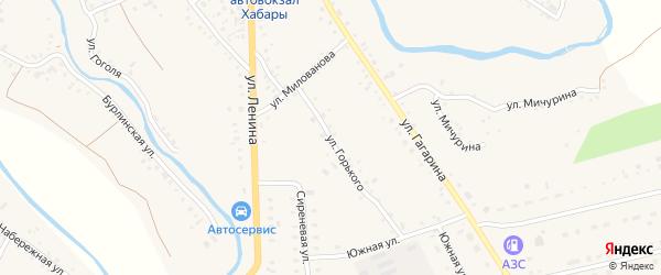 Улица Горького на карте села Хабаров с номерами домов