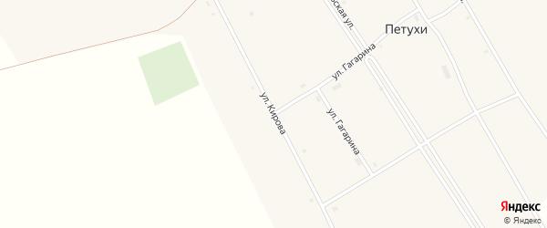 Улица Кирова на карте села Петухи с номерами домов