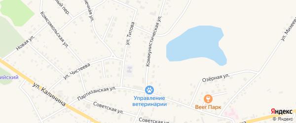 Коммунистическая улица на карте села Хабаров с номерами домов