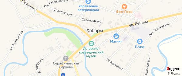 Улица Бондаря на карте села Хабаров с номерами домов