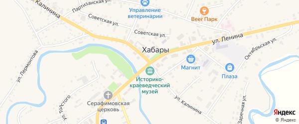 Переулок Калинина на карте села Хабаров с номерами домов