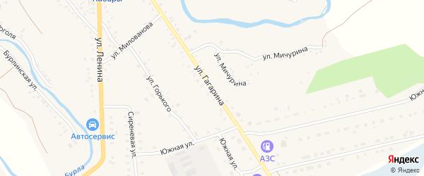 Улица Гагарина на карте села Хабаров с номерами домов