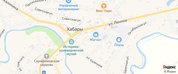 Переулок Ленина на карте села Хабаров с номерами домов
