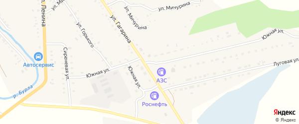 Южная улица на карте села Хабаров с номерами домов