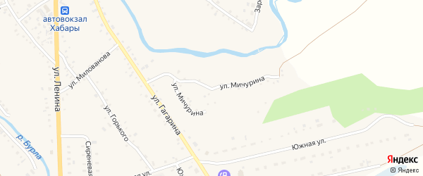 Улица Мичурина на карте села Хабаров с номерами домов