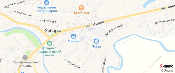 Октябрьский переулок на карте села Хабаров с номерами домов