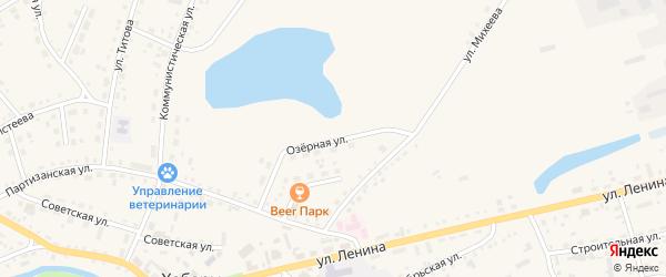 Озерная улица на карте села Хабаров с номерами домов