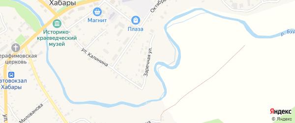 Заречная улица на карте села Хабаров с номерами домов