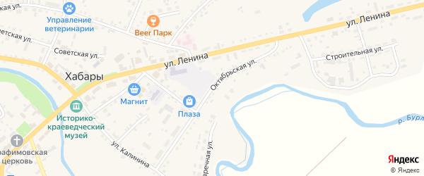 Октябрьская улица на карте села Хабаров с номерами домов