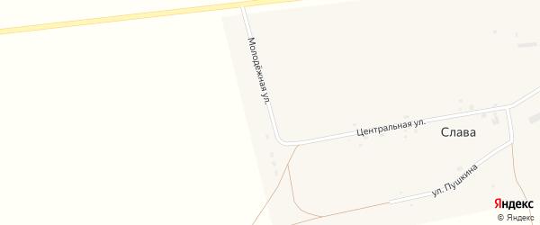 Улица Пушкина на карте села Славы с номерами домов