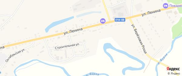 Строительная улица на карте села Хабаров с номерами домов