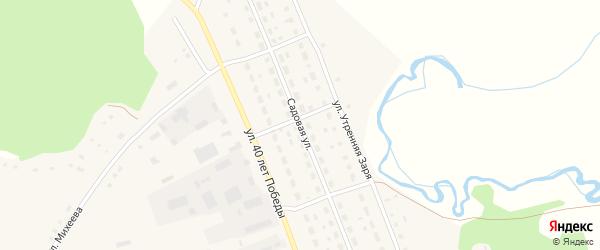 Садовая улица на карте села Хабаров с номерами домов
