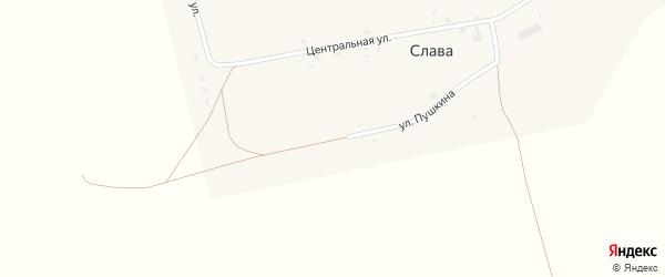 Молодежная улица на карте села Славы с номерами домов