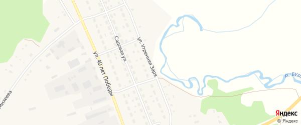 Улица Утренняя заря на карте села Хабаров с номерами домов