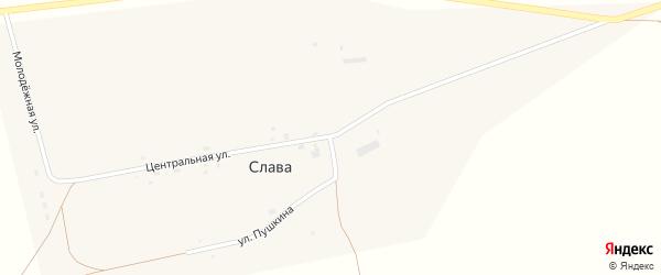 Центральная улица на карте села Славы с номерами домов