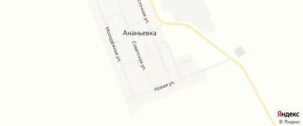 Карта села Ананьевки в Алтайском крае с улицами и номерами домов