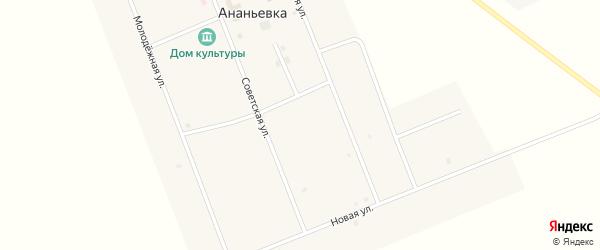 Советская улица на карте села Ананьевки с номерами домов