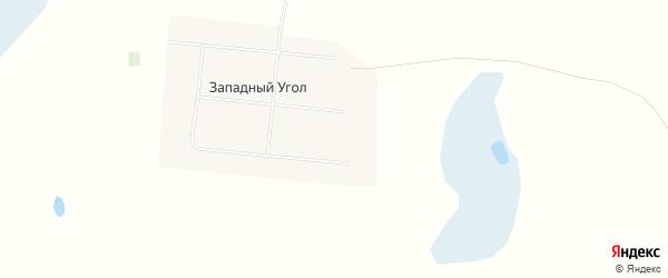 Карта села Западного Угла в Алтайском крае с улицами и номерами домов