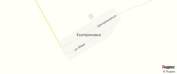 Карта села Екатериновки в Алтайском крае с улицами и номерами домов