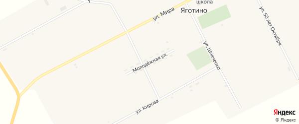 Молодежная улица на карте села Яготино с номерами домов