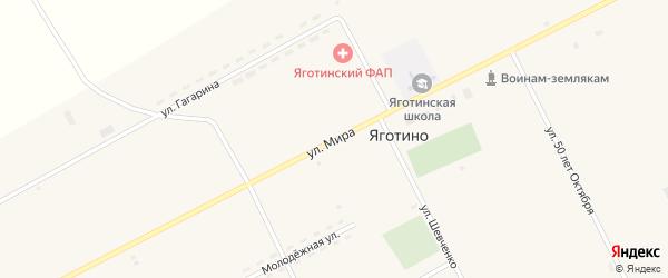 Улица Мира на карте села Яготино с номерами домов