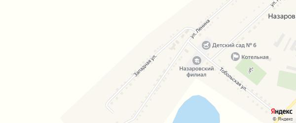 Западная улица на карте села Назаровки с номерами домов
