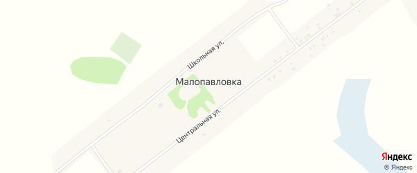 Центральная улица на карте поселка Малопавловки с номерами домов