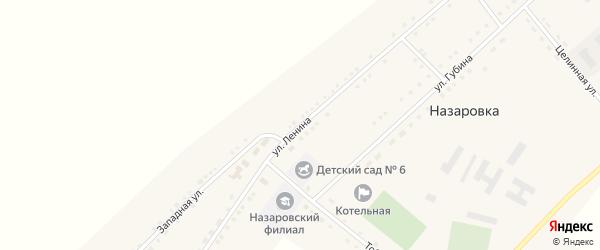 Улица Ленина на карте села Назаровки с номерами домов