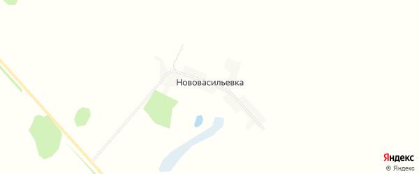 Карта поселка Нововасильевки в Алтайском крае с улицами и номерами домов
