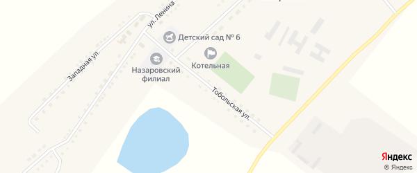 Тобольская улица на карте села Назаровки с номерами домов