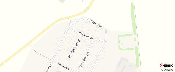 Степная улица на карте села Зеленой Поляны с номерами домов