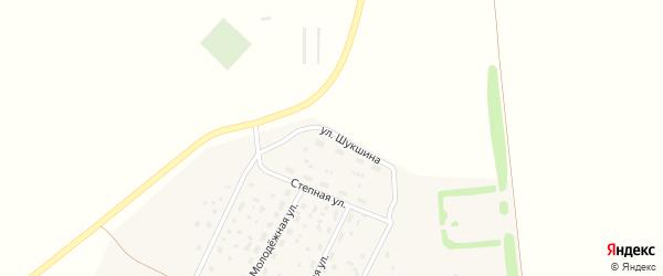 Улица Шукшина на карте села Зеленой Поляны с номерами домов
