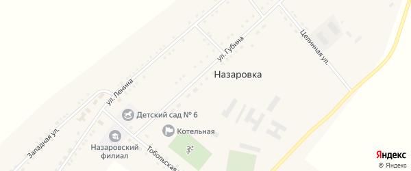 Тракторный переулок на карте села Назаровки с номерами домов